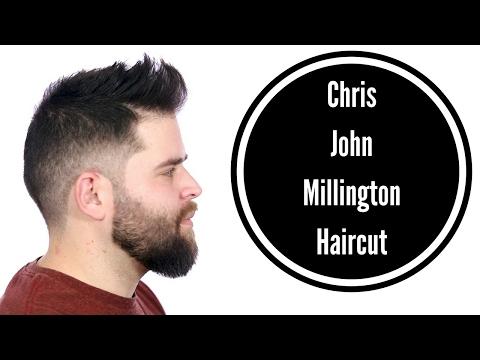 Barber Fade Tutorial with Beard Trim - Chris John Millington Haircut - TheSalonGuy