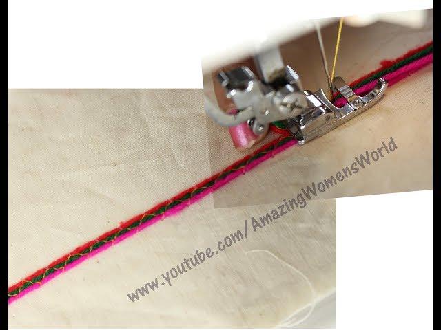 Decorative Stitch embroidery designing  Sarees, Neck Designing, Cushion, PILLOW 3 way carding stitch