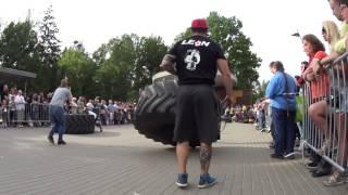 Vladimir Bulgakov VS Alexander Eybog. Tire flip 280 kg 6.5 reps + loglift 117 kg.Final