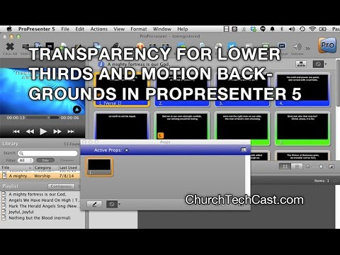 Repeat ProPresenter 5 Tutorial: Transparency & Keying in