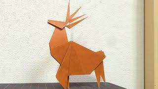 こんにちは!今回はクリスマスにぴったりのトナカイの折り紙です! クリ...