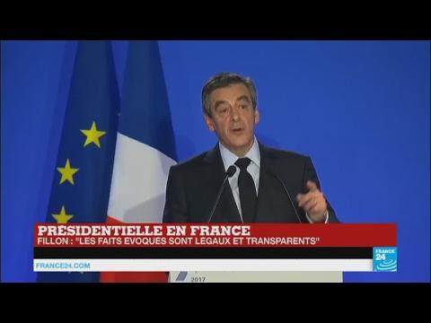 """REPLAY - Penelopegate : """" Tous les faits évoqués sont légaux et transparents"""", affirme Fillon"""