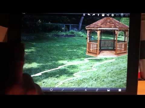 Backyard, Landscape design visualization with CoolDrawPro ...