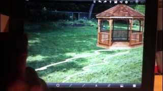 Backyard, Landscape Design Visualization With  Cooldrawpro - Ipad App
