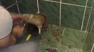 как установить унитаз на чугунную канализационную трубу