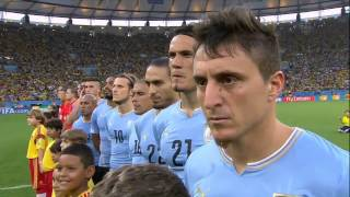 Colombia vs Uruguay National Anthems World Cup 2014