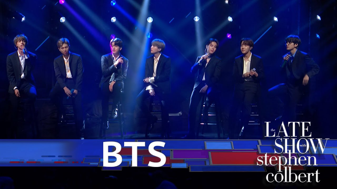 Watch BTS Serenade 'Colbert' Audience With 'Make It Right