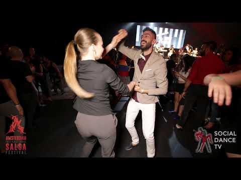 Panagiotis & Edyta - Salsa social dancing   Amsterdam International Salsa Festival 2019