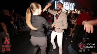 Panagiotis & Edyta - Salsa social dancing | Amsterdam International Salsa Festival 2019