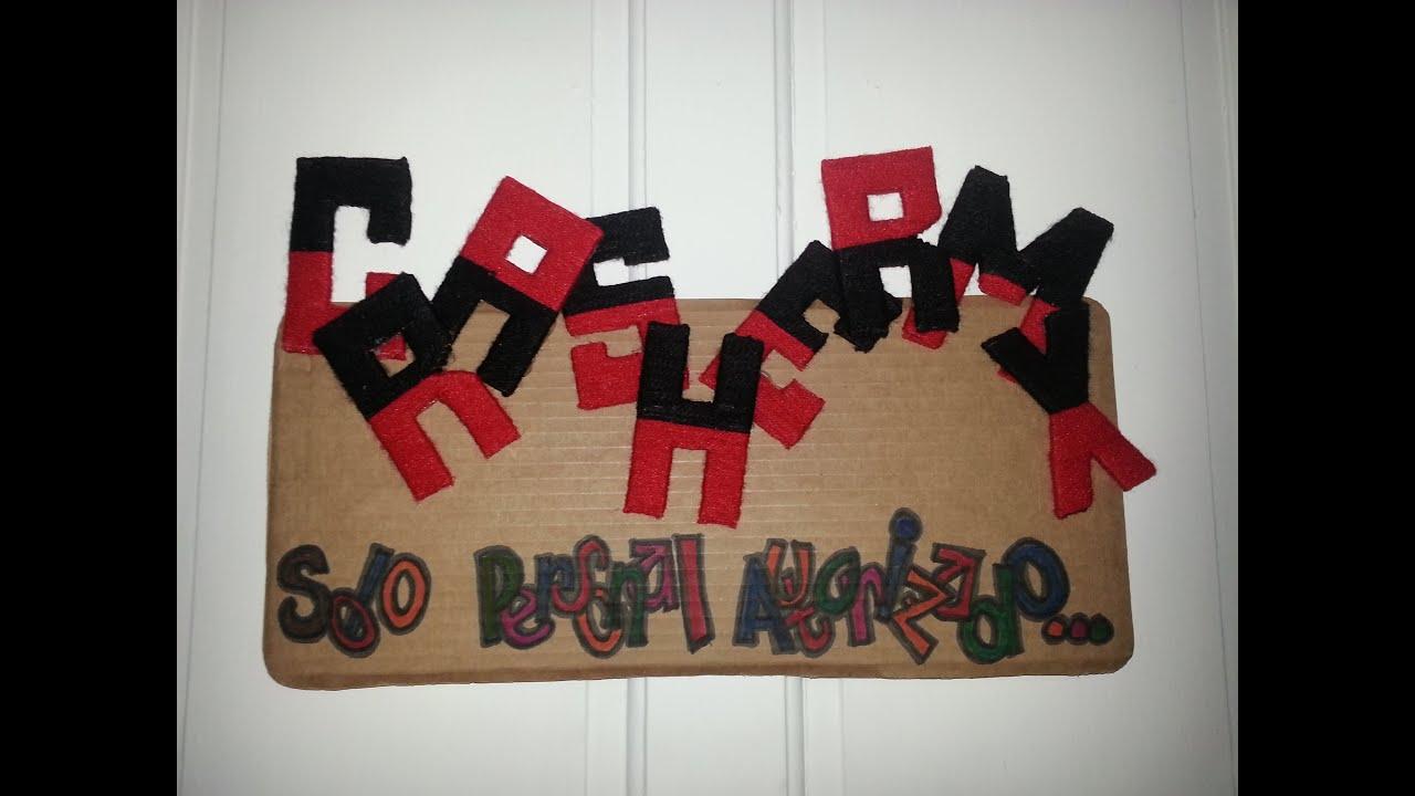 Diy decora tu habitaci n lindo cartel con estambre youtube for Como decorar un mural