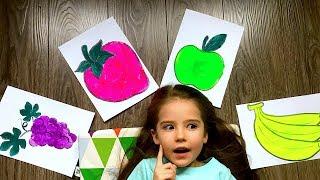 Обучающее видео для детей рисуем фрукты. И произносим их названия на английском языке
