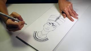 Cleopatra Drawing - Time lapse