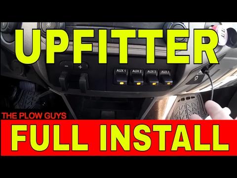 2011-2016 FORD UpFitter Switch FULL Install