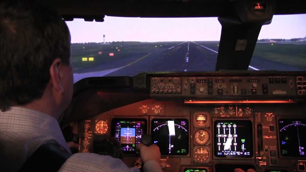 Inside REAL Qantas 747 flight simulator HD | Doovi