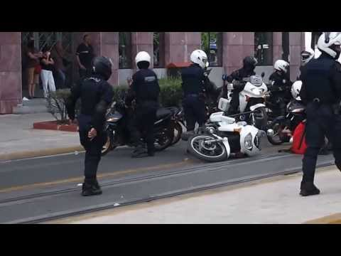 Greek Police Engage with Crypton X in Athens 15/7/11