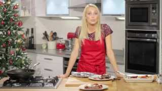 Camilla Dallerup Cooks Steaks With Blue Cheese And Roasted Vegetables For Simply Beef And Lamb