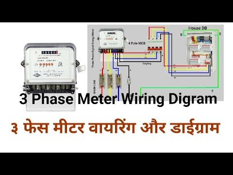 3 Phase Meter Wiring Diagram - Wiring Diagram Home