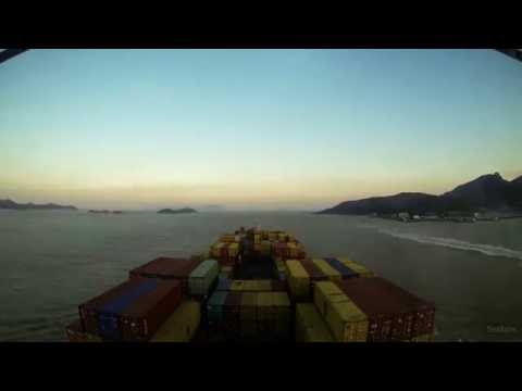 Time-lapse (100x): arrival Ningbo (China) [4K / UHD, 60fps]