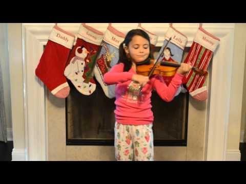 """Polar Express """"Believe"""" played on violin by Leila, age 6"""