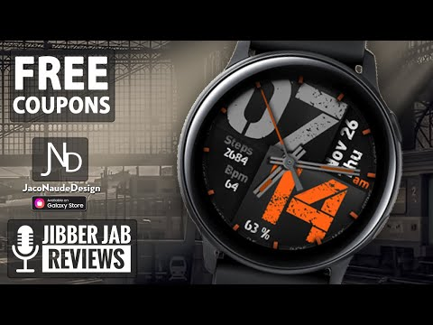 Coupon Giveaway! Samsung Galaxy Watch Active 2/Galaxy Watch Face by JND - Jibber Jab Reviews!