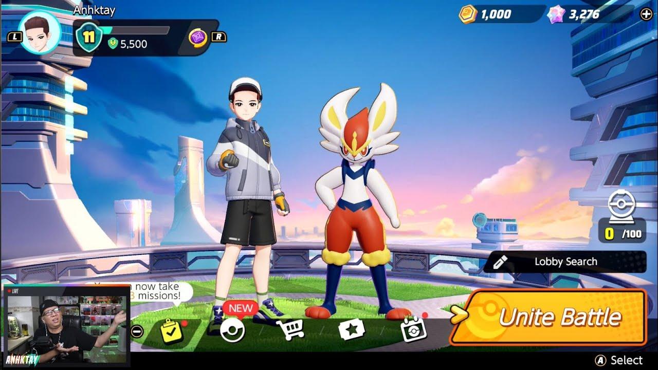 LIVE Vác thỏ lửa Cinderace leo rank Pokemon Unite