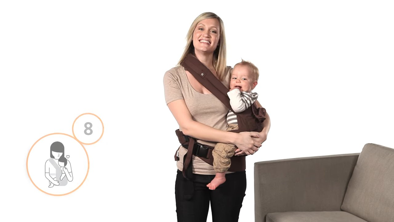 59f319d8e0d How Do I Hip Carry in the Ergobaby Carrier - YouTube