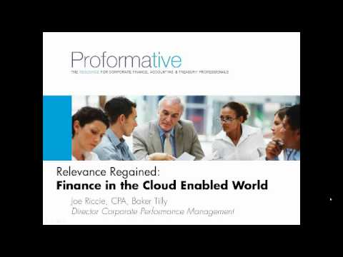 Leveraging Technology to Elevate the Role of Finance Webinar