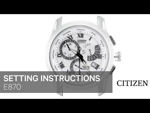 4ef9a6391b4 OFFICIAL CITIZEN E870 Setting Instruction - YouTube