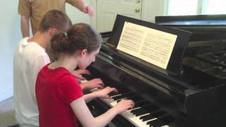 Grace, 14 and George, 16 play Schubert: March Militaire, Op  51 No  1