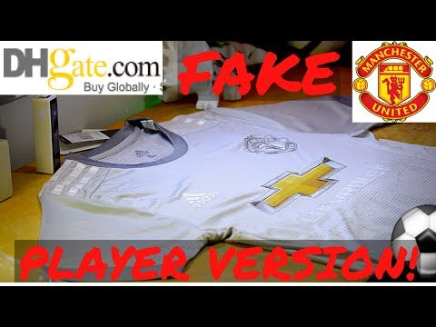 finest selection 35de2 3b8d7 Fake Manchester United 17/18 3rd kit unboxing/review ...