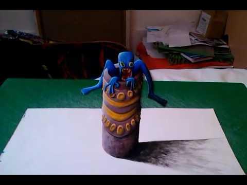 3D Blue guy