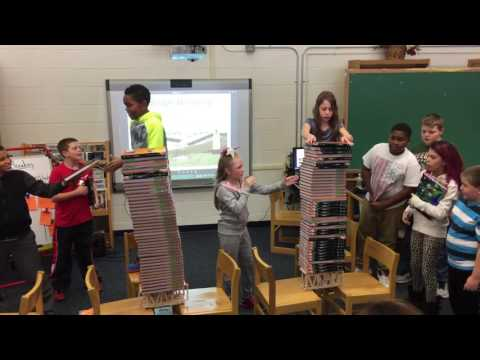 John S. Hobart Elementary School Bridge Breaking Experiment