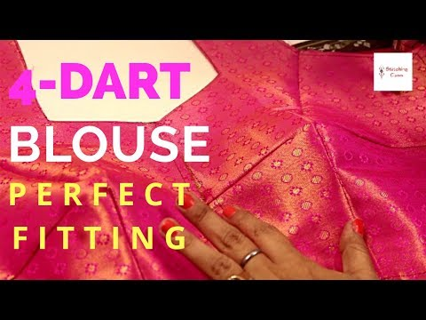 Four dart Blouse Drafting, Cutting and Stitching, neck design latest ,neck design for blouse