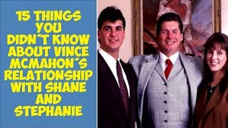 15 Things You Didn't Know About Vince McMahon's Relationship With Shane and Stephanie