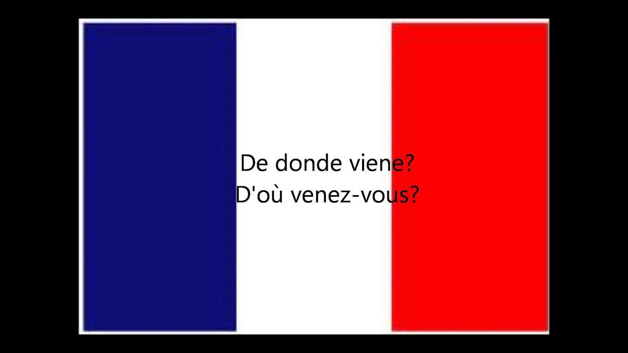 Frases Básicas En Francés Presentaciones Saludos