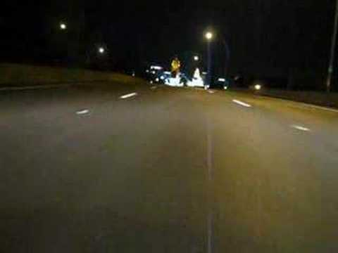 Driving to Downtown Cincinnati - Night