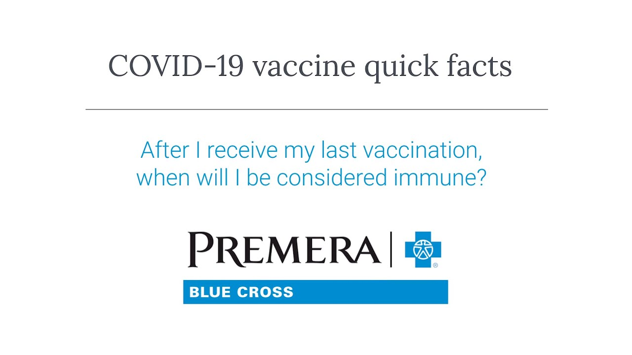 COVID-19 Q&A: When will I be considered immune?