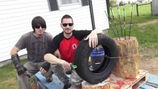 Can a Crossbow bolt/Arrow flatten a Tire?  ZGB Science Experiment USA