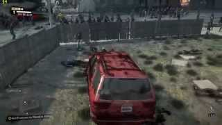 Dead Rising 3 driving THROUGH ZOMBIE HORDE