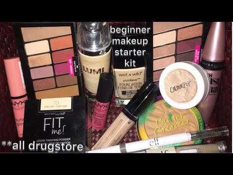 drugstore makeup starter kit  for beginners  youtube