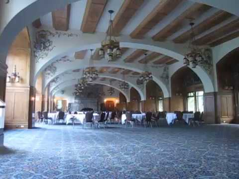 Inside the Fairmont Chateau Lake Louise, at Lake Louise, Alberta, Canada, August 10, 2015