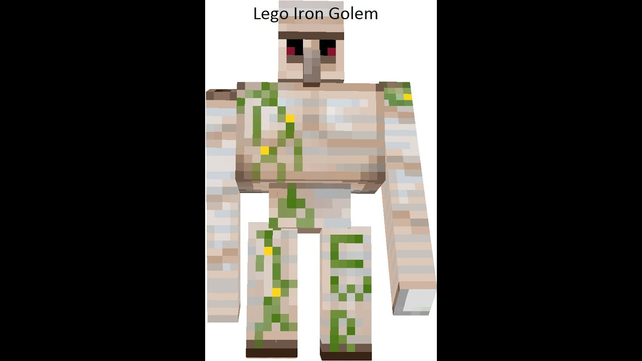 How to make a lego minecraft iron golem youtube - Minecraft golem de diamant ...