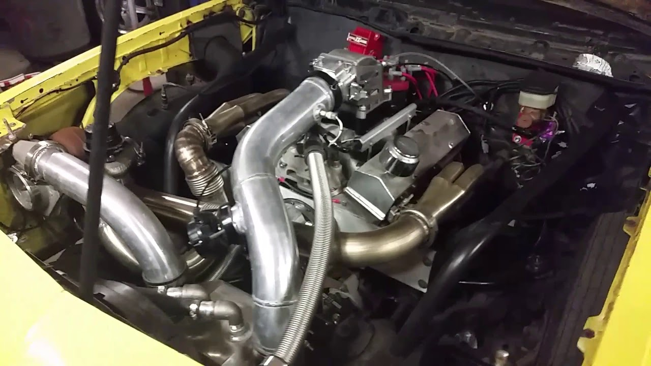 Bad to the Bone Single Turbo Small Block Chevy Monte Carlo Race Car: First  Start Up