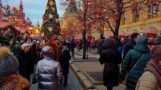 Смотреть видео Новогодняя Москва //; Куда сходить в Москве. онлайн