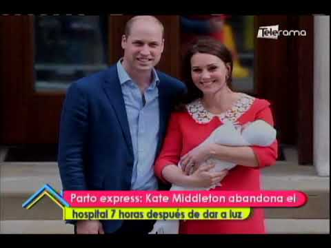 Parto express: Kate Middleton abandona el hospital 7 horas después de dar a luz