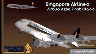 [Roblox]Singapore Airlines Inaugural A380 Flight With First Class Experience!