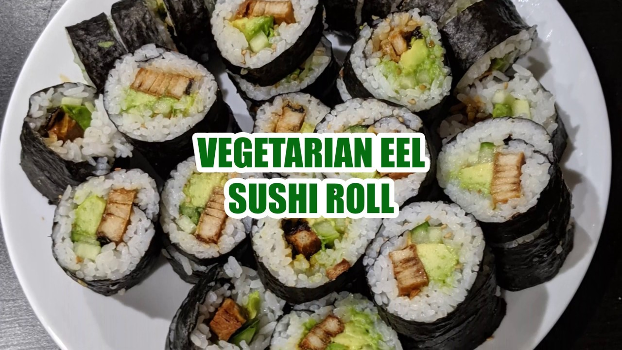 Vegetarian Unagi Sushi Rolls l Simple and Easy Recipe