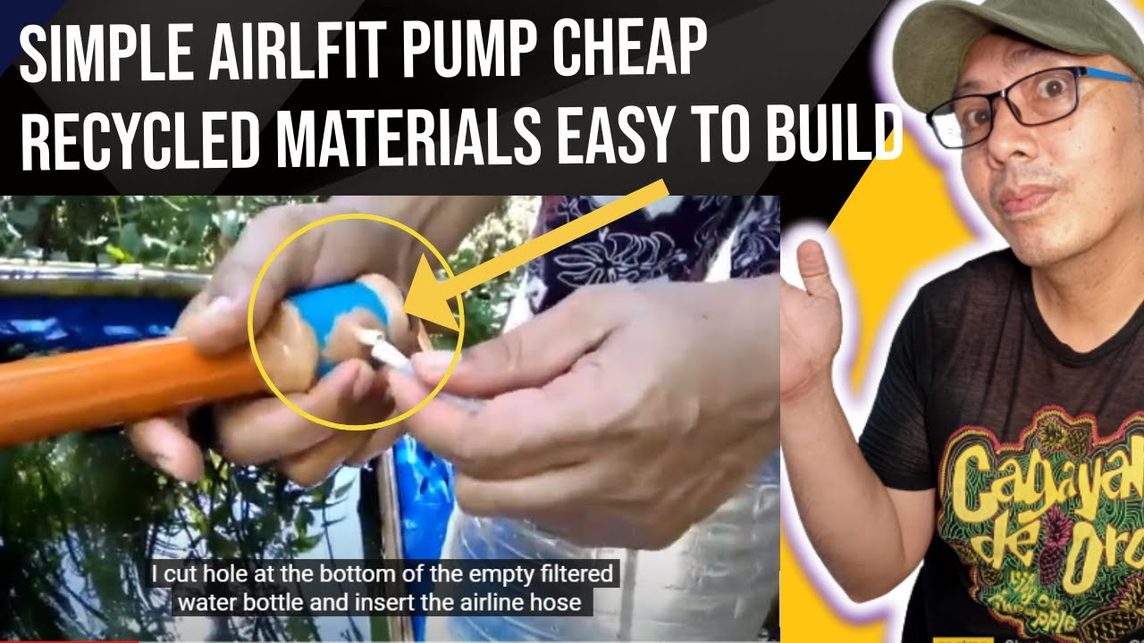 Simple airlift pump this sample is just for small koi pond for Airlift koi pond