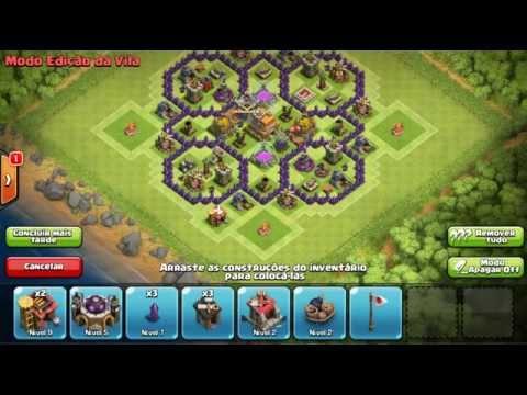 Layout de push para cv7 - Clash of Clans - com dispersor