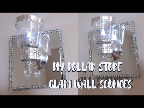 DIY DOLLARSTORE GLAM WALL SCONCES, WALL LIGHT - Home Decor 2019
